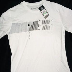 Under Armour White Short Sleeve Men's Shirt sz LG
